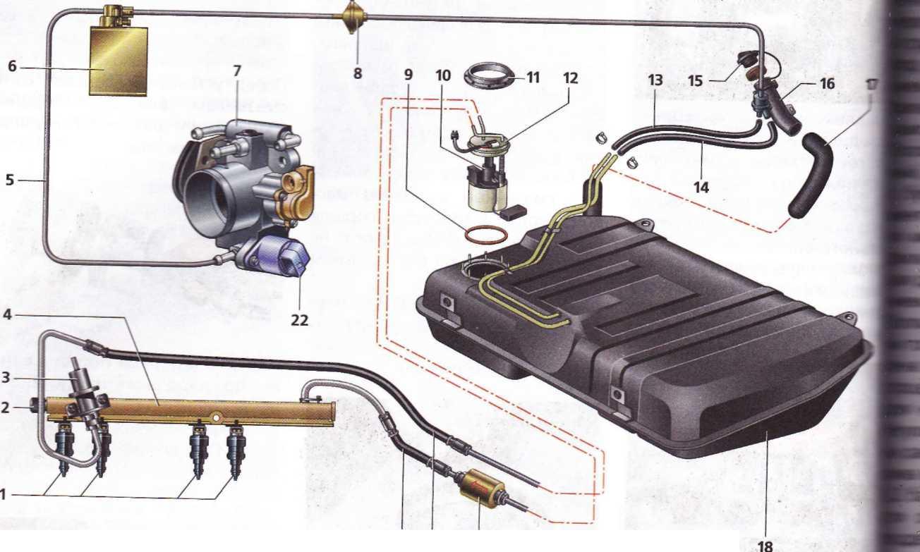 топливная система нива шевроле схема
